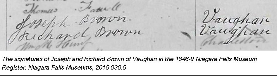 A copy of the signature of the Brown brothers.