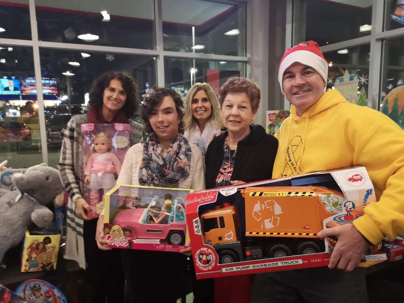 Councillor Mike Strange collecting toys for Dalton's Wish Toy Drive