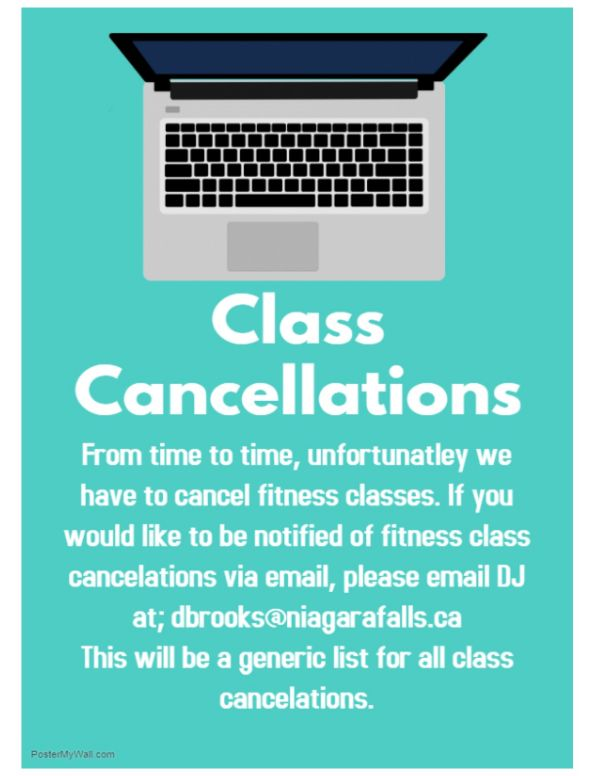 Class cancellations e-mailing list
