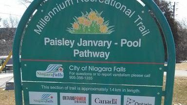 Paisley Janvary-Pool Pathway entrance sign