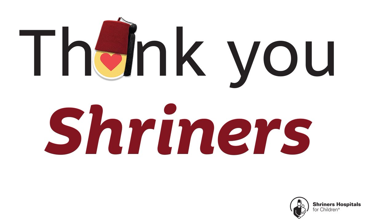 "Logo: International Shriners Awareness Day, ""Thank you Shriners"""