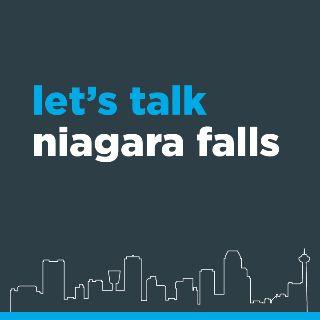 Logo: let's talk, Niagara Falls