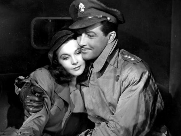 Picture of a soldier and a lady.