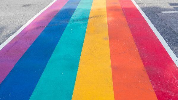 rainbow crosswalk