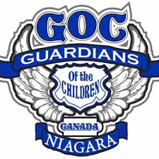 Logo: Guardians of the Children Canada Niagara Chapter (angel wings & badge)