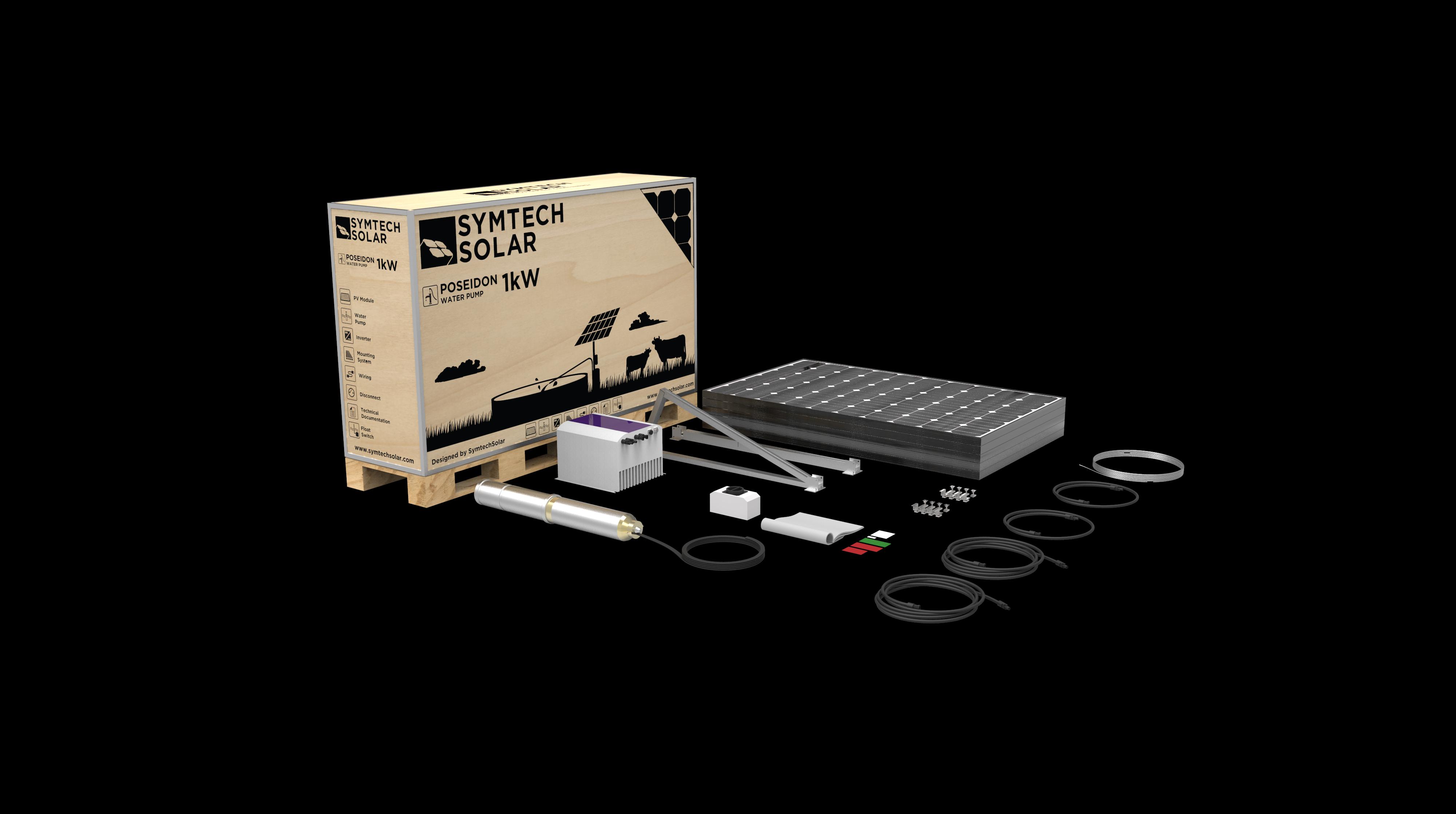 Symtech Solar -  Poseidon Series - Solar Water Pump - Kit View