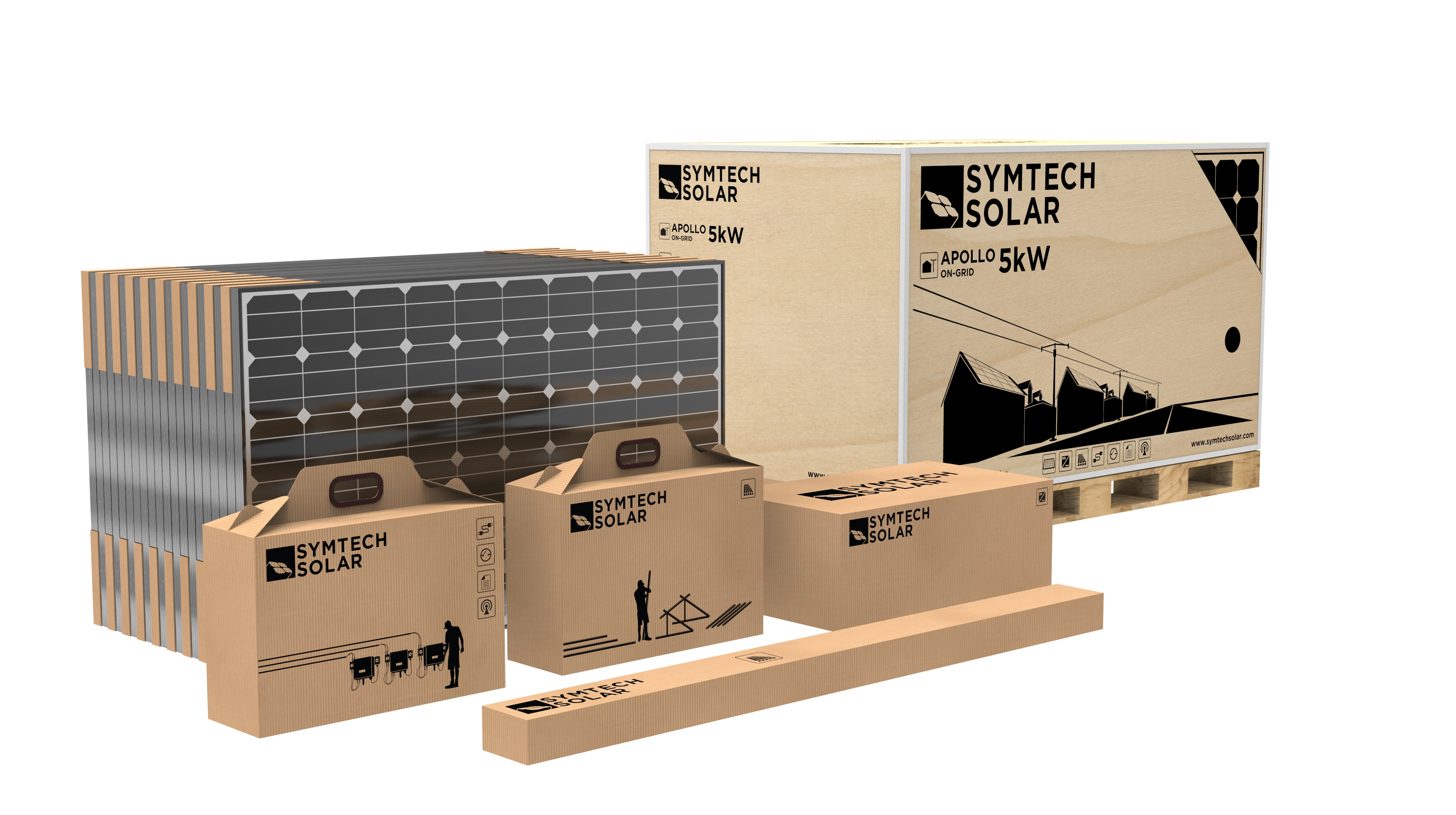 Symtech Solar -  Apollo Series - On-Grid Residential -Packaging View