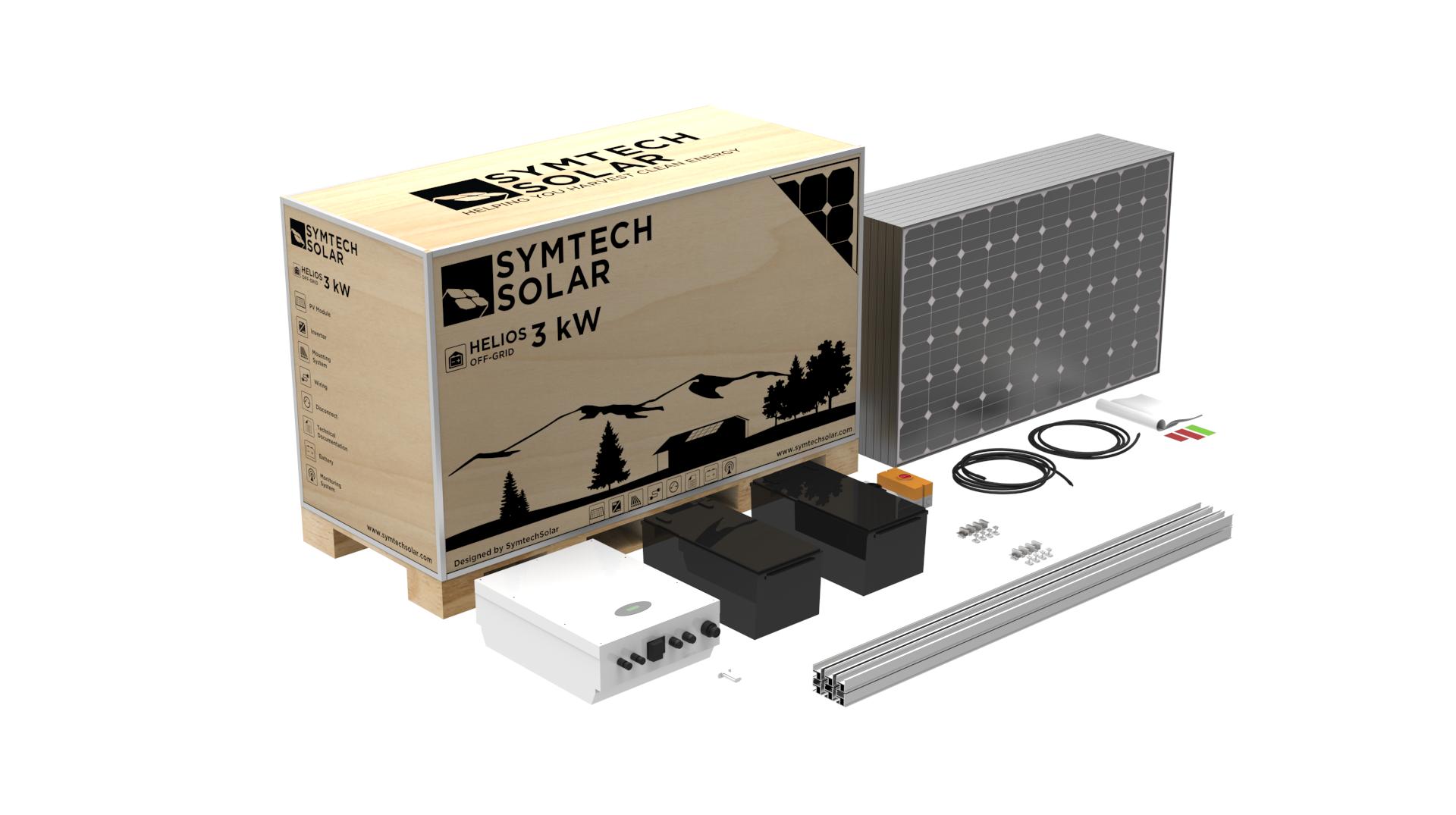 Symtech Solar - Helios Series Box - 3kW PV Kit