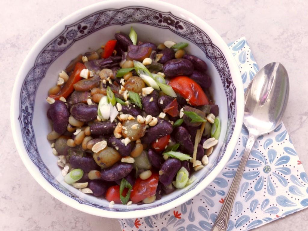 Beans in Bean Mushroom Sauce