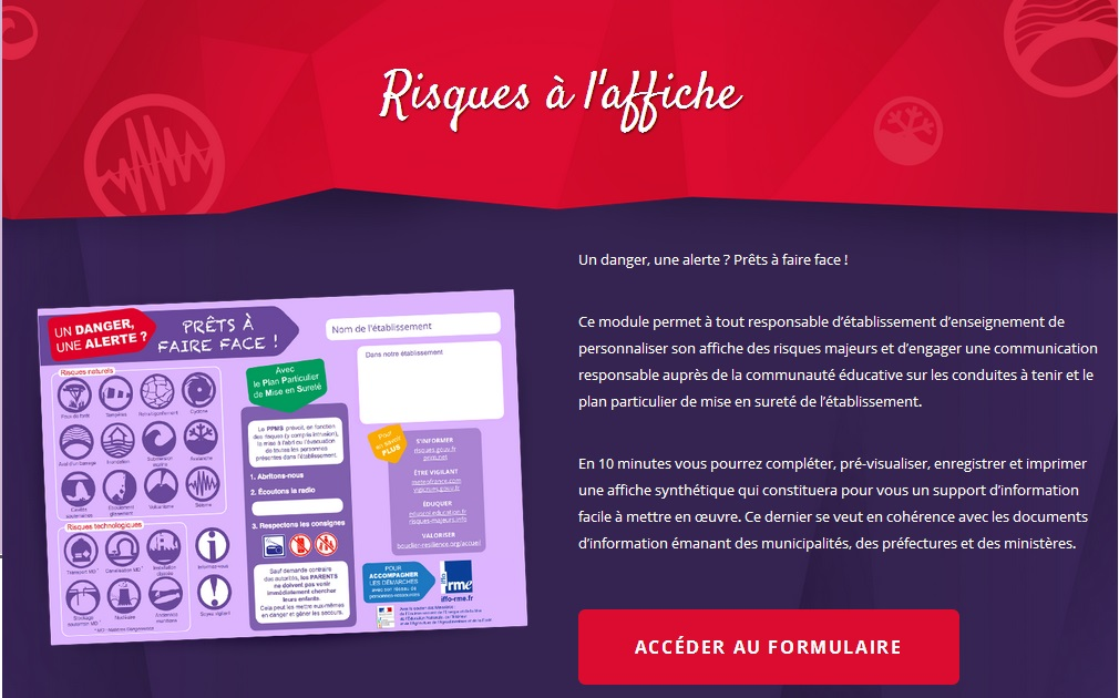 Site web Risques Affiches