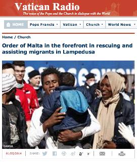 Daily Telegraph in Lampedusa