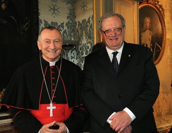 Cardinal Parolin and Fra' Matthew Festing