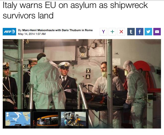 AFP on migrant boat shipwreck