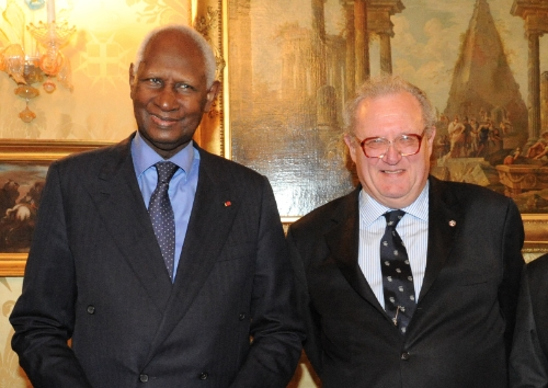 Fra' Matthew Festing and Abdou Diouf