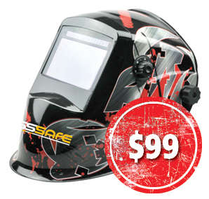BossSafe Street Wide View Electronic Welding Helmet