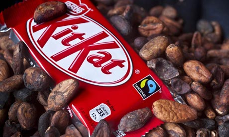 [Picture of Nestle's Fairtrade Kit Kat bar]