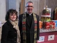 Sophi meeting Canon Michael Hampel of St Paul's Cathedral