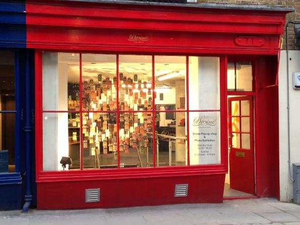 Divine Chocolate's Pop Up Shop in Covent Garden