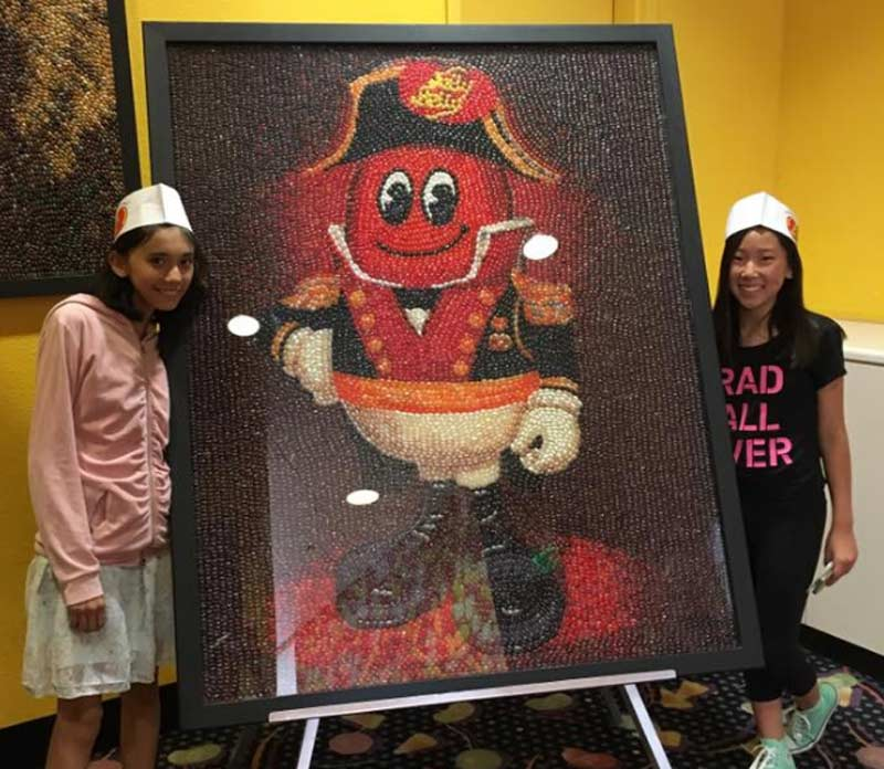 Kanon Daniel and host sister, Bella, at the Jelly Belly Factory