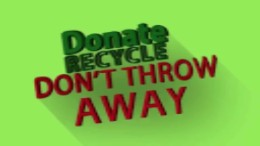Donate and recycle this Earth Day