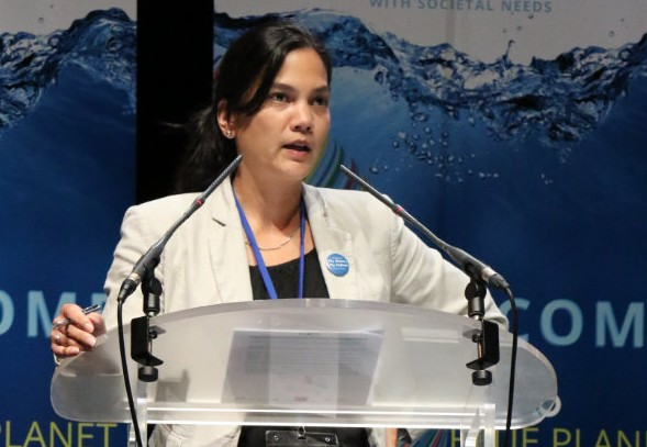 Sophie Seeyave, Co-Chair of the Initiative, gave the introductory overview of GEO Blue Planet at the start of the Symposium.