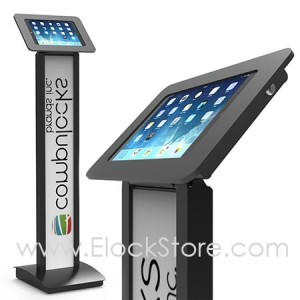 Borne Totem iPad Air 1 2 - Kiosque ROKKU pied BrandMe Noir - Maclocks 140B257ROKB ElcokStore REF00388
