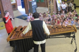 Lawler & Fadoul perform at an elementary school