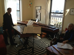 Lawler & Fadoul rehearse with composer Katherine Hoover