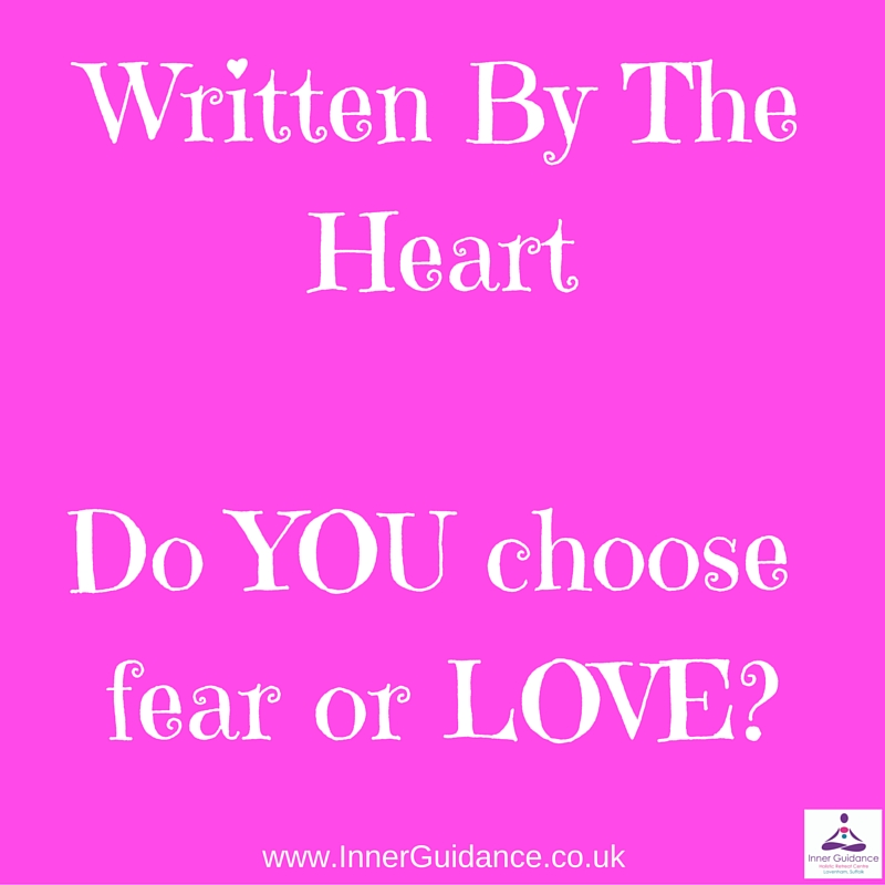 Do YOU Choose fear or LOVE?