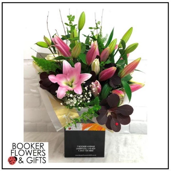 Oriental Scented Lily Hand Tied Bouquet
