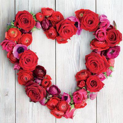 Rose Heart Wreath Card