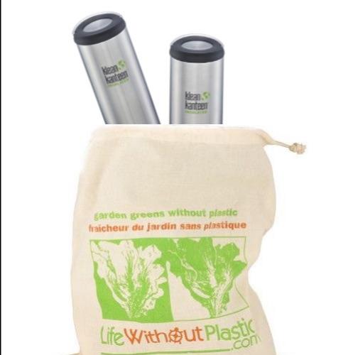 Organic Cotton Greens Bag with Klean Kanteens