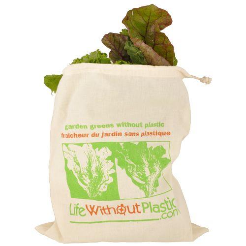 Organic Cotton Leafy Greens Bag