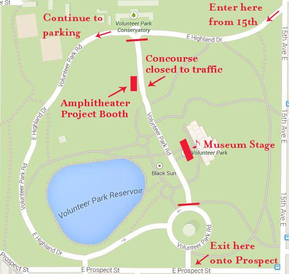 Map of Volunteer Park