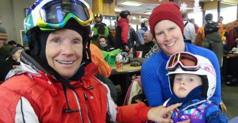 three generations of skiers