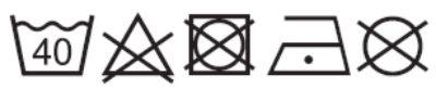 prací symboly pro textilní běhoun DIMEX s digitálním potiskem