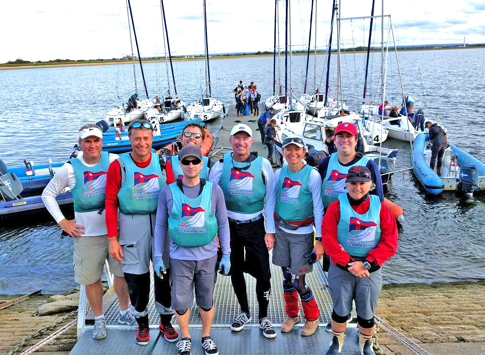 J/80 New York YC team sailors