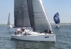 J/111 sailing Van Uden Reco regatta in The Netherlands