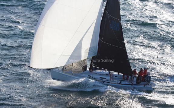 J/125 sailing downwind fast
