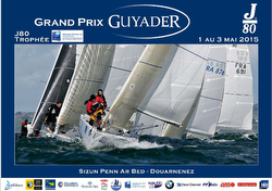 J/80s sailing Grand Prix Guyader, France