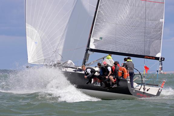J/111 Jitterbug sailing on Solent