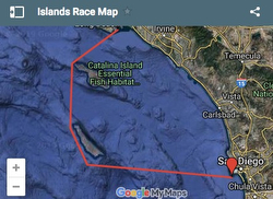 Islands Race course map