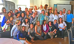 Women's J/22 Match Race clinic participants