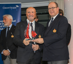 J/70 sailor Vincenzo Onorato with Prince Albert II - YC Monaco