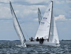 J/70s sailing Cedar Point