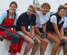 J/109 team sailing fast