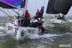 J/97s sailing J/Cup on Solent