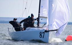 J/70s sailing Quantum J/70 Winter Series in Tampa Bay