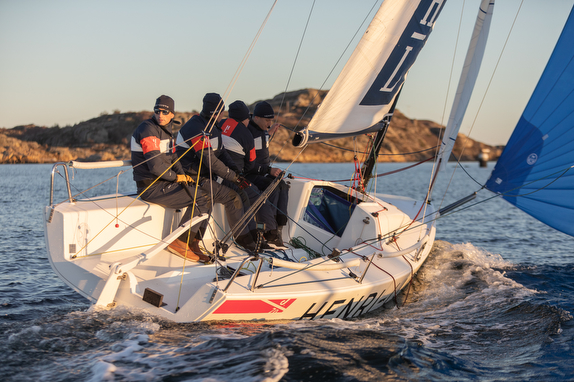 J/70 sailing off Marstrand, Sweden