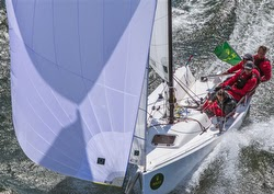 J/70 Double Trouble- Andy Costello and Paul Cayard sailing San Francisco Big Boat Series